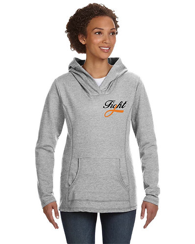 FIGHT Ladies' Hooded French Terry (pocket logo style)
