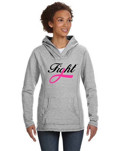 FIGHT Ladies' Hooded French Terry (Mid-chest logo style)