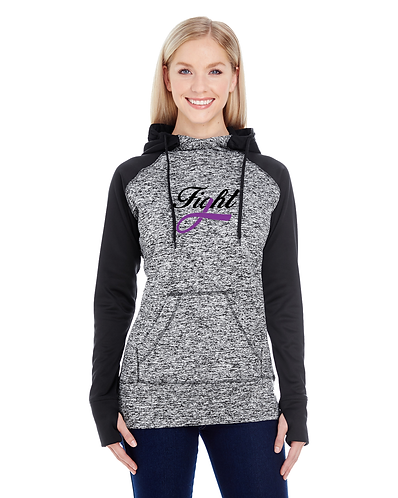 FIGHT Ladies Cosmic Hoodie (Mid-chest logo style)