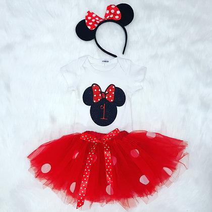 Minnie Mouse Inspired Tutu Set