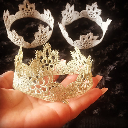 Baby Lace Crowns