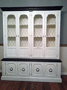 Antique White Java Gel Stain/Distressed