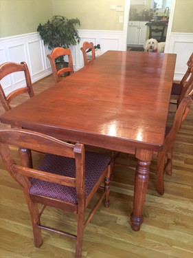 Before: Cherry Dining room set
