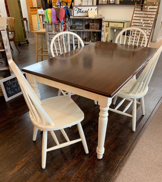 Antique White with Refinished Table Top