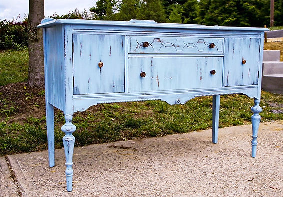 Blue Buffer Custom Furinture Painting