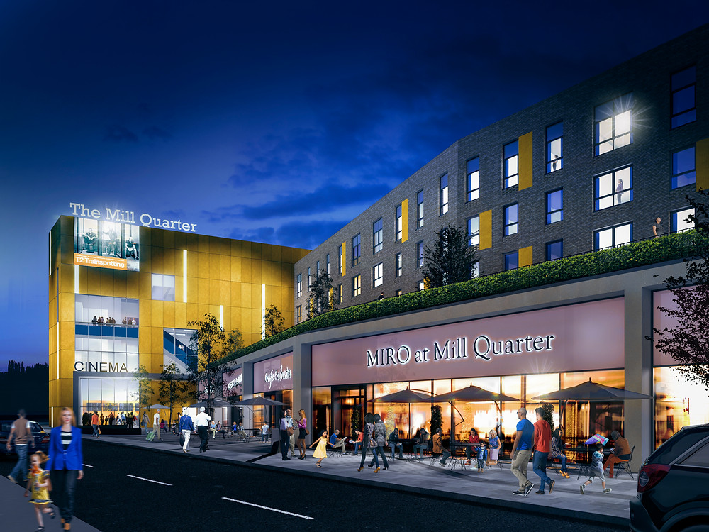 The Mill Quarter a new leisure hub with cinema, restaurants, parking and 58 residential apartments to be built in the heart of Perth by developer Expresso Property and will transform  Perth's visitor destination offer.