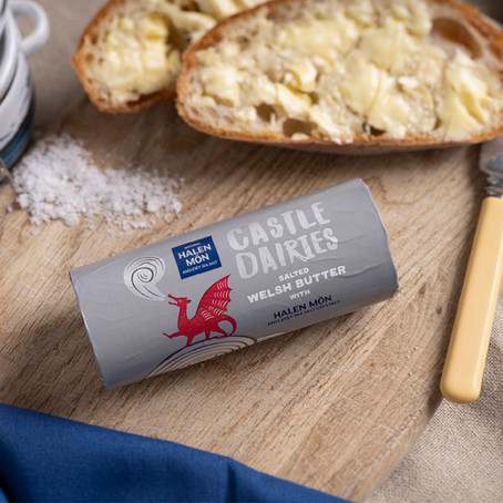 Castle Dairies Butter Roll with Halen Mon Sea Salt Crystals - Review
