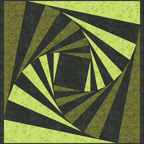 PDF Quilt Pattern, Wicked Inspired, One Block Wall Hanging for Wicked Broadway