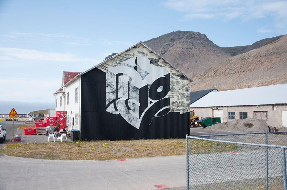 Gamla Verbúðin, Krot og Krass, vegglist, listir, menning, Húsið-Creative Space, Julie Gasiglia, Patreksfjörður, landsbyggðin, gestavinnustofa, residency, mural, úr vör, vefrit