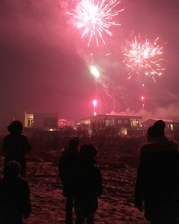 Emanda Percival, new years eve, fireworks, gunpowder and rainbows, writing, happy new year, new year celebration, Iceland, úr vör, vefrit