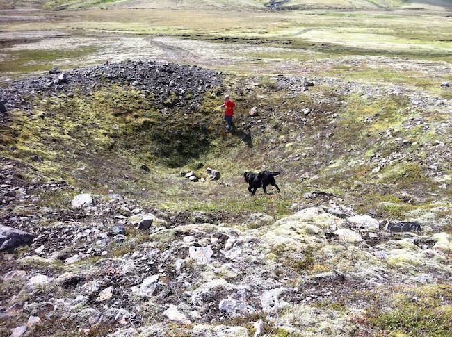 Emanda Percival, Bomb site, countryside, Second World War, WW2, East Iceland, stories, úr vör, vefrit