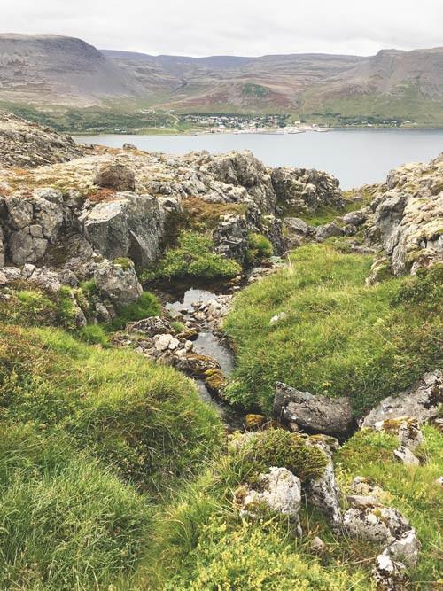 Villimey, Tálknafjörður, úr vör, vefrit, Julie Gasiglia