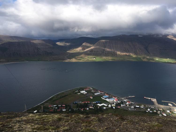 úr vör, vefrit, Þingeyri, Julie Gasiglia.