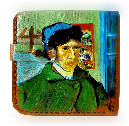 Van Gogh Self Portrait with a Bandaged Ear Wallet by Hoopoe Design