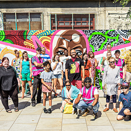 New Youth Mural on Ipswich Waterfront! Well Done Everyone!