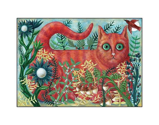 Ginger Cat by Bev Howe