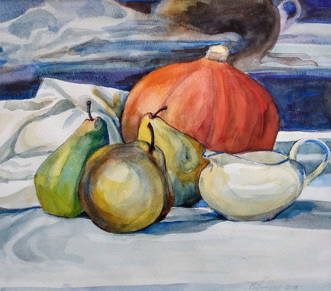 Pumpkin and Pears by Max Northwood