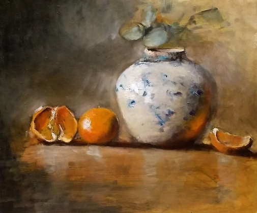 Still Life with Vases and Apples by Mirka McNeill
