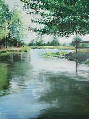 The River Stour near Flatford Mill by Larain Briggs