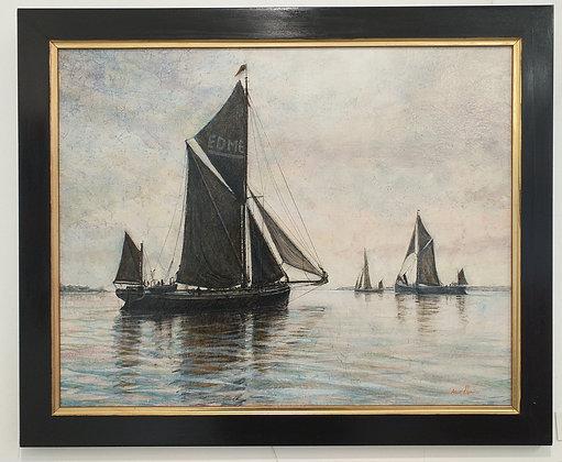 Thames Barge Edme by Anne Plummer
