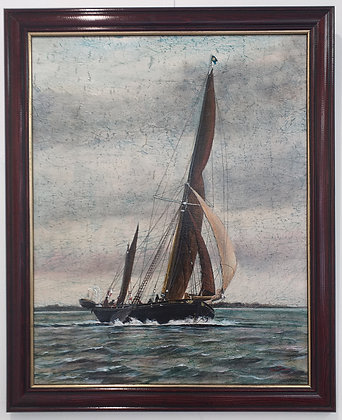 Thames Barge Mirosa by Anne Plummer