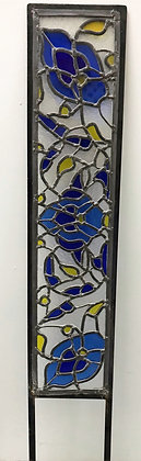 Frame Stained Glass Panel (for the garden) by Hajrah Ayub