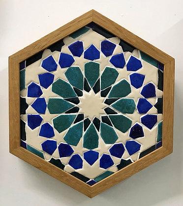 Moroccan Zilleji Tile Panel by Hajrah Ayub
