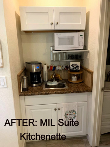AFTER MIL Suite Addition: In Room Kitchenette