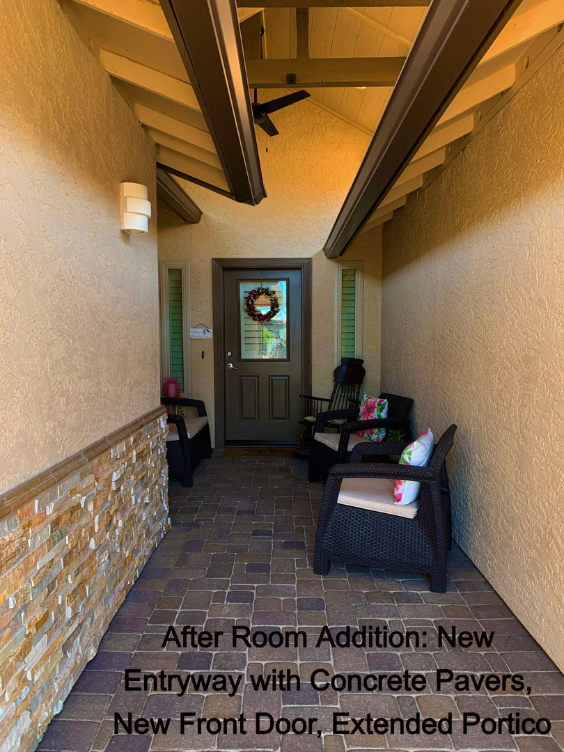 After MIL Suite Addition: New Front Entry Way