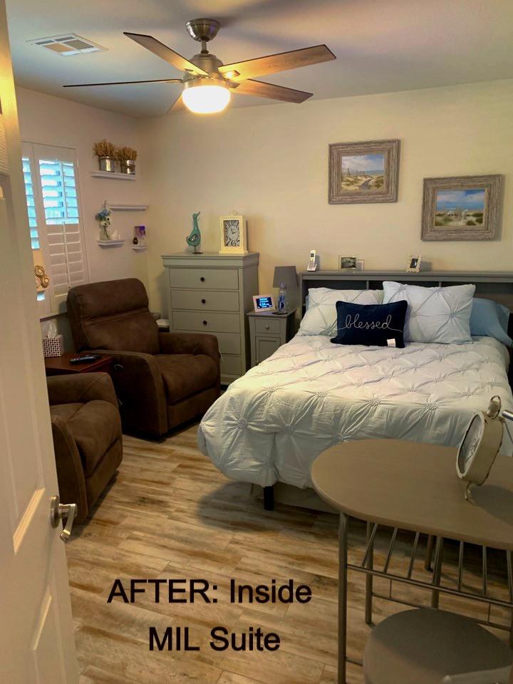 AFTER MIL Suite Addition: Inside Bedroom