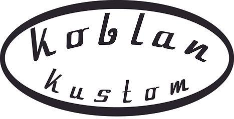 Koblan Kustom logo. Relic strat relic tele built in Canada
