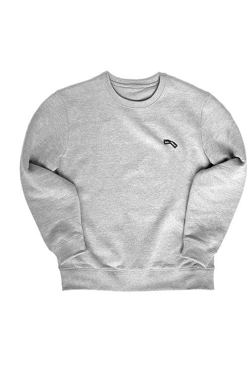 Gray Sweatshirt Folded Logo
