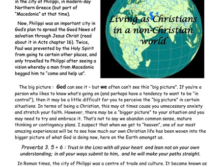 Living as Christians in a non-Christian world