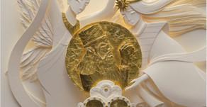 中村凰伯ー紙(神)彫刻の世界ポスター