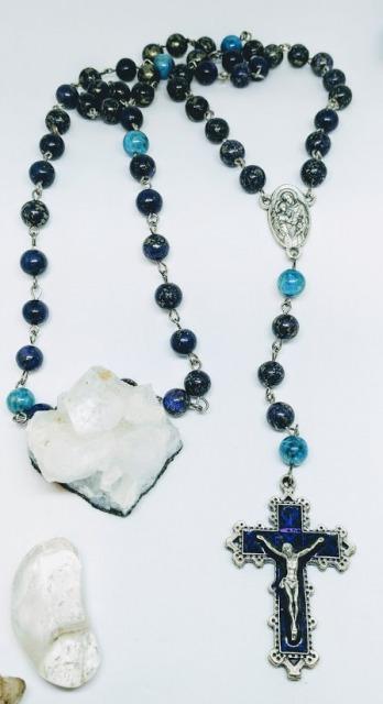 Dark Purple Pyrite rosary