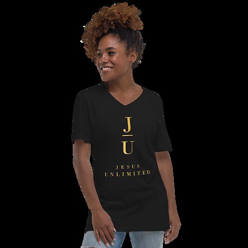 Jesus Unlimited Unisex Short Sleeve V-Neck T-Shirt