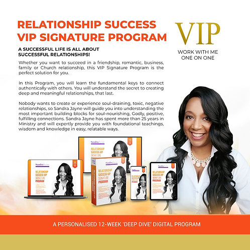 RELATIONSHIP SUCCESS VIP SIGNATURE