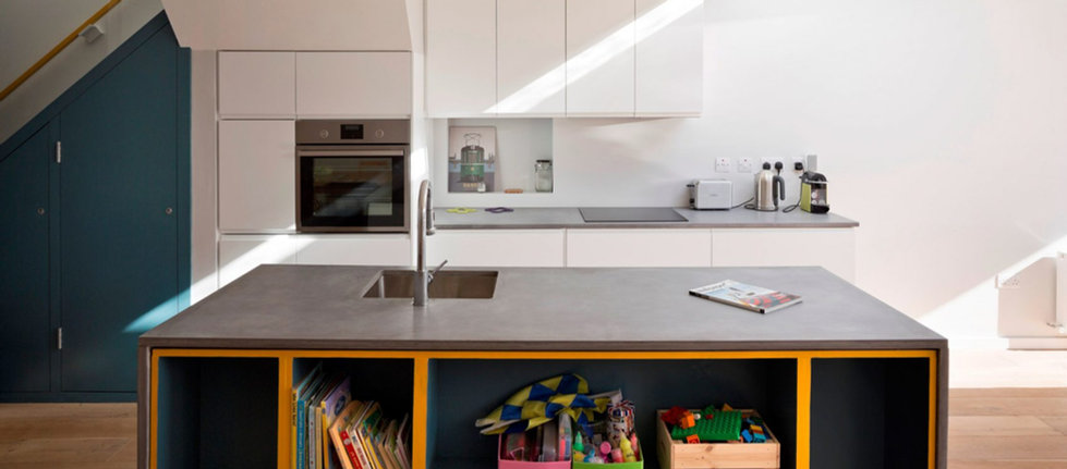 Concrete Kitchen Countertop & Island - St. Declans Terrace