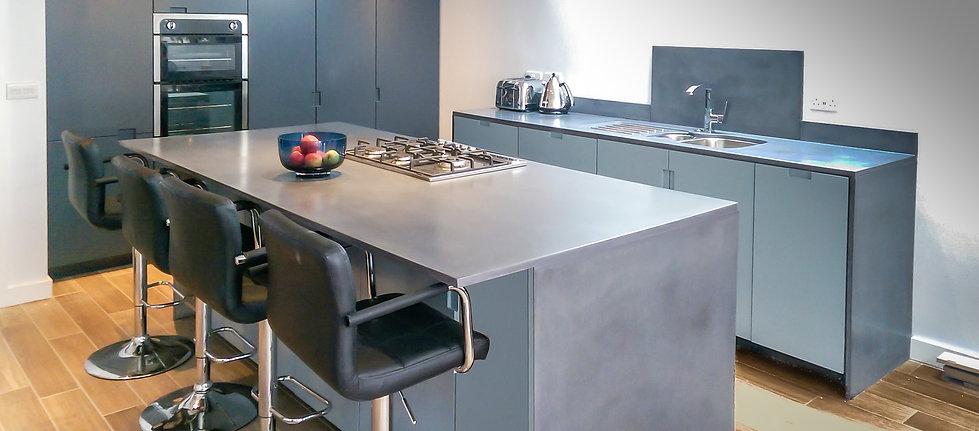 Concrete Kitchen Countertop & Island
