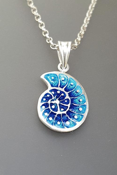 Blue Ammonite Pendant