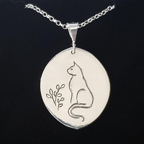 Cat Doodle Pendant