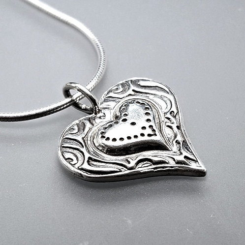 Sculpted Heart Pendant