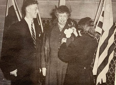 FROM THE CHS ARCHIVES: FORMER FIRST LADY ADDRESSES COLUMBIA HIGH SCHOOL STUDENTS by Carol Petrallia
