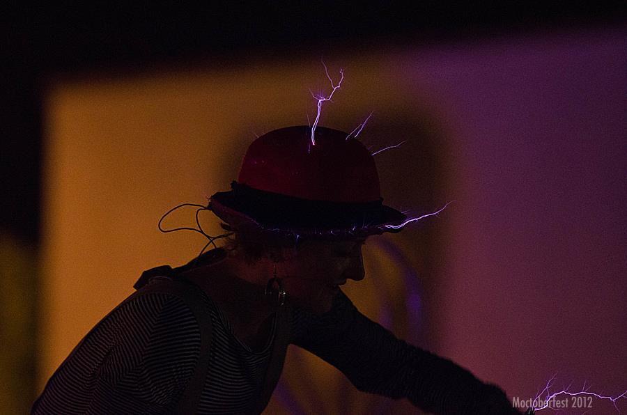 Sasha with hat sparks