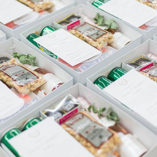 Create goodie boxes for all your guests.