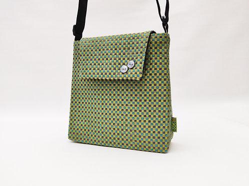 Handtasche grün, Magnetverschluss