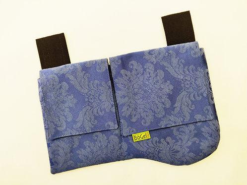 floral und blau - Gürteltasche  mit 2 Fächern
