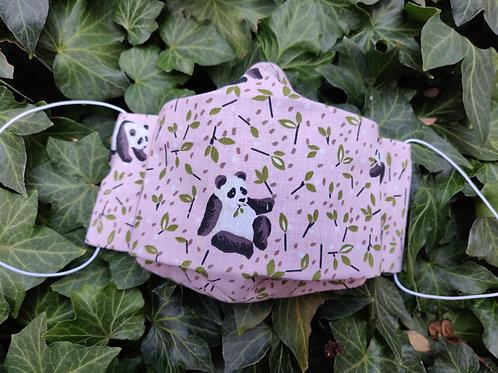 Panda-Rosa Körbchenmaske