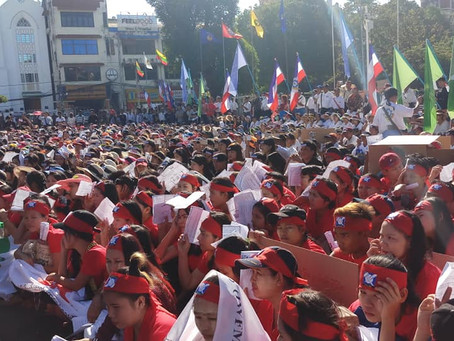 Myanmar workers rally for fair labour laws