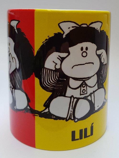 "Taza personalizada ""Mafalda x3"""